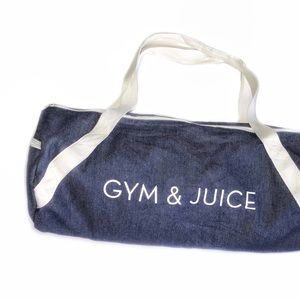 Handbags - Gym & Juice Denim Duffle Bag